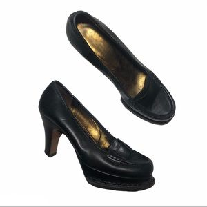 YSL Classic Penny Loafers Leather Heels